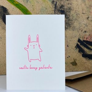 New baby girl greeting card that reads A beautiful Baby Girl in irish
