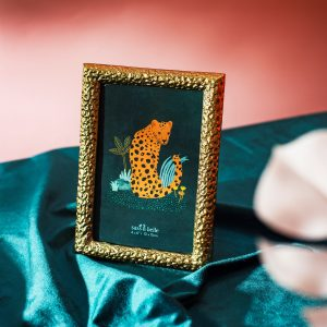 Gold leopard photo frame stocked by April road living