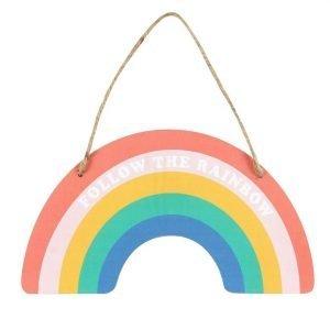 hanging rainbow door plague