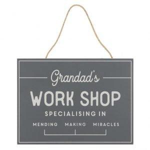 grandads workshop sign
